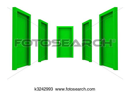 Drawing of Choose a Green Door k3242993.