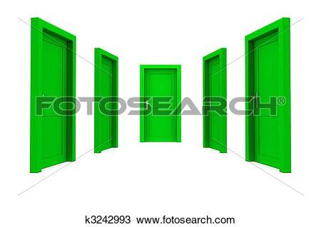 A green door clipart #1