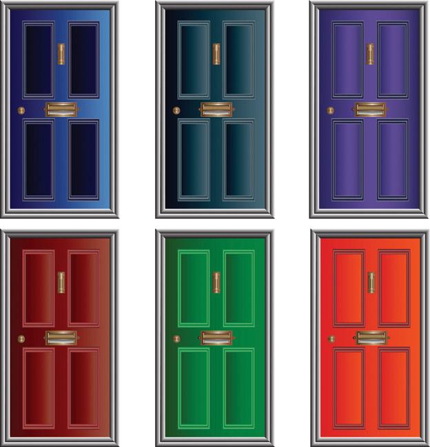 A green door clipart #5