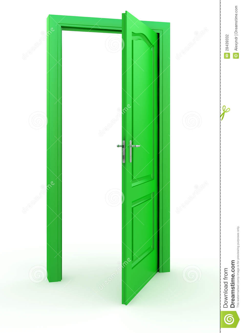 Clip Art Green Door.