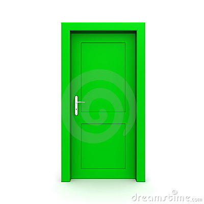 Green front door clipart.