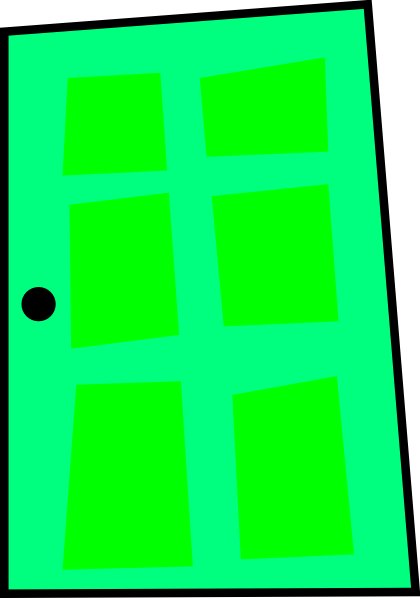 A green door clipart #14