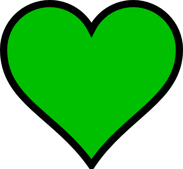 Free Green Heart Transparent Background, Download Free Clip.