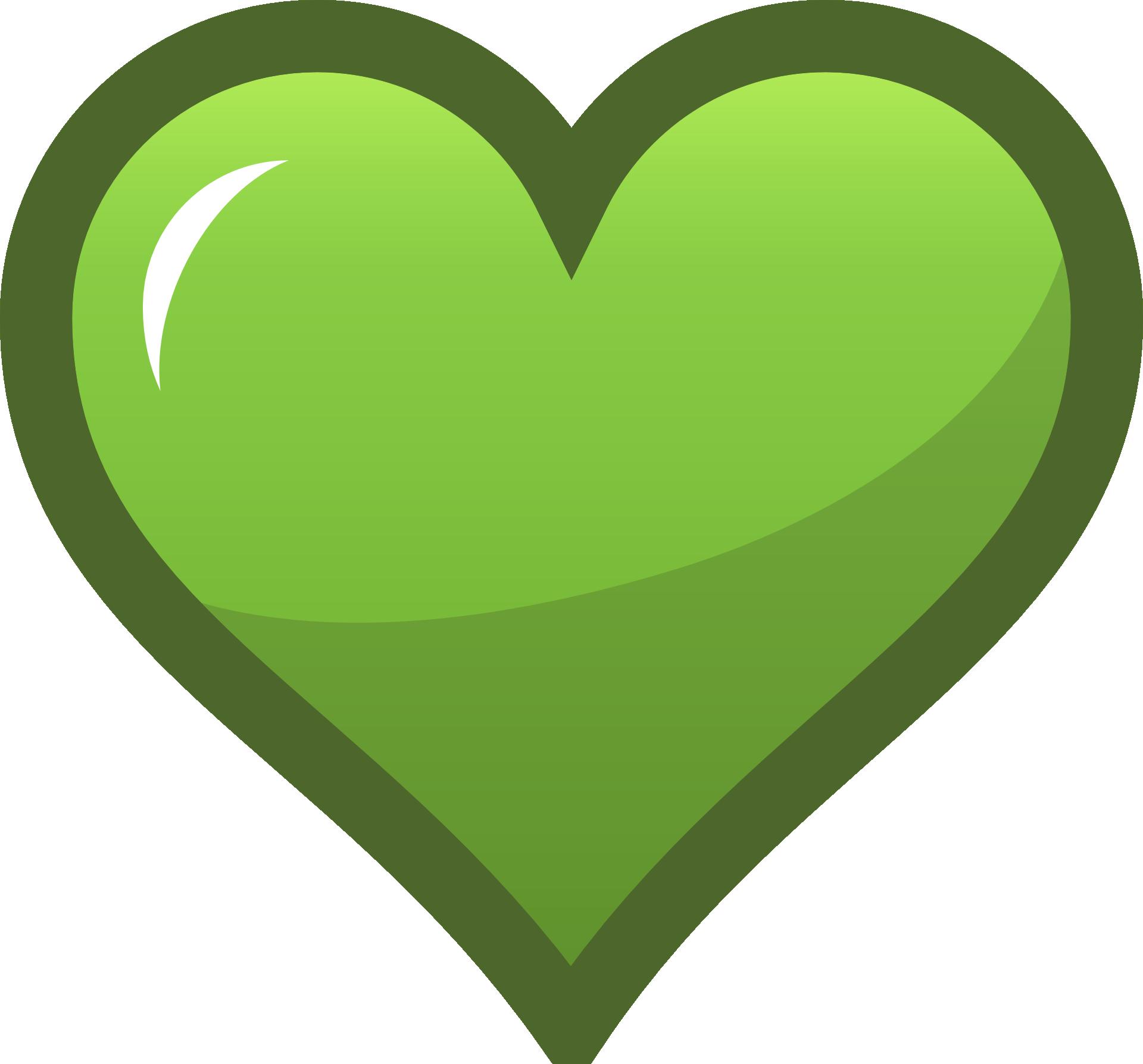 Big green heart clipart free image.