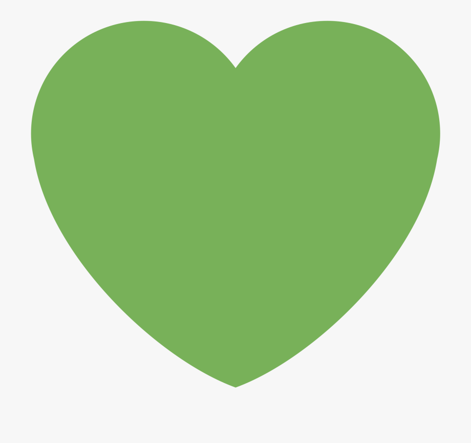 Green Heart Transparent Background.
