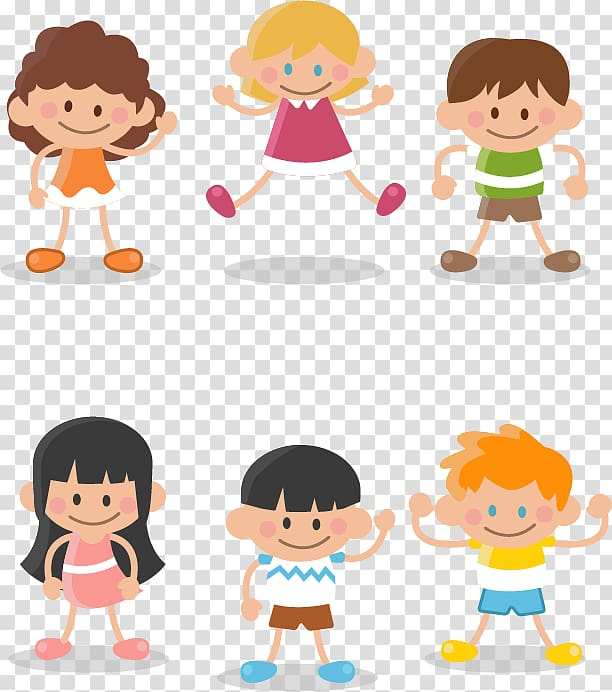Boy Child Cartoon , The of a group of children transparent.