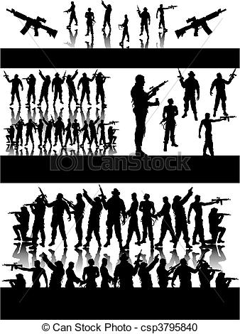 Group of soldiers clipart 5 » Clipart Station.