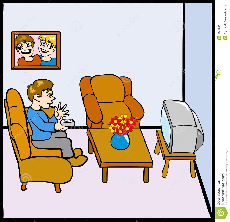 Boy Watching Tv Clipart Uomo Che Guarda Tv #x68560.