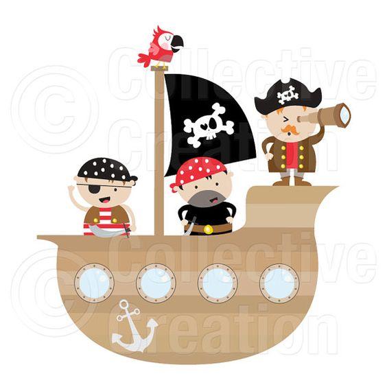 Este piratas Digital Clip Art Set incluye las siguientes.