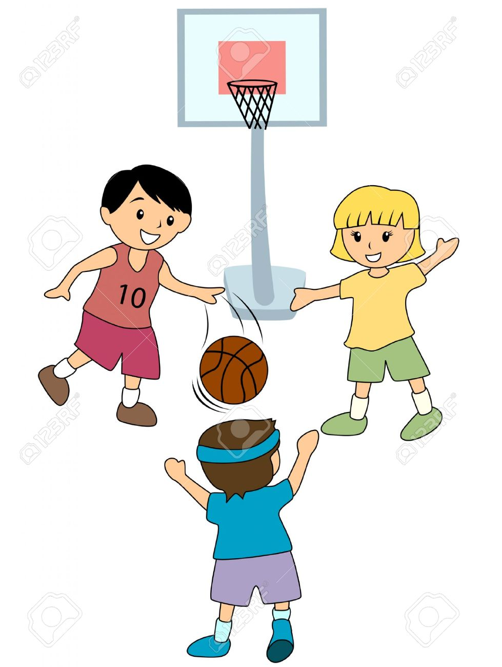 Playing Basketball Clipart.