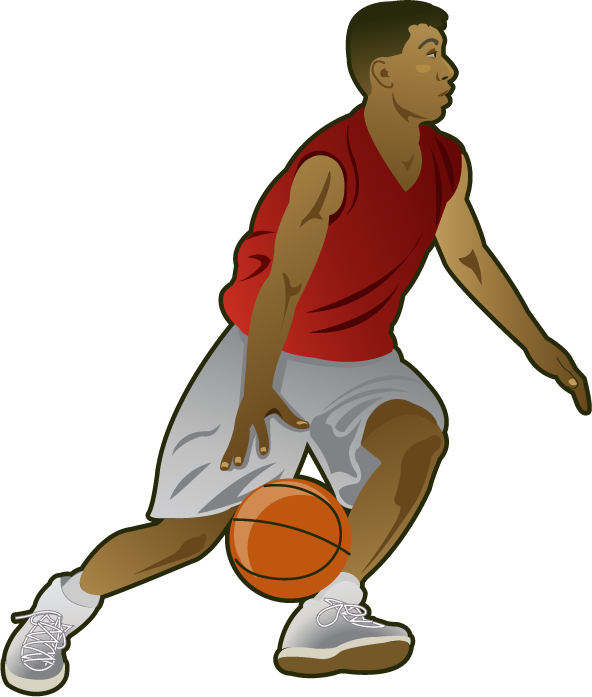 Guy Playing Basketball Clipart.