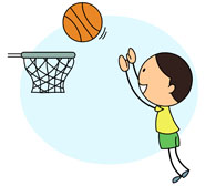 Boy shooting hoops clipart images gallery for free download.
