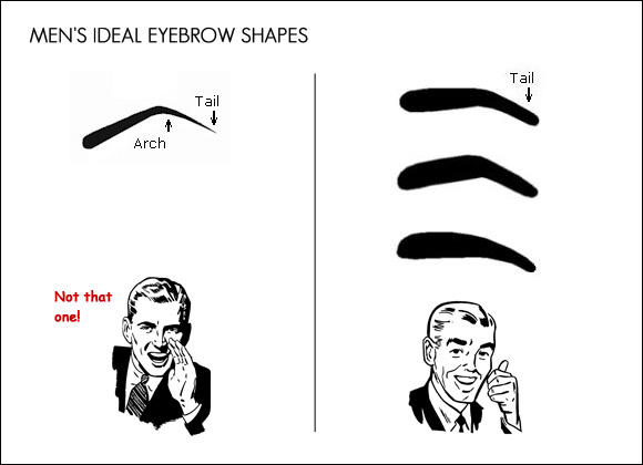 Attention Men!! This is how your eyebrows should look! On the.