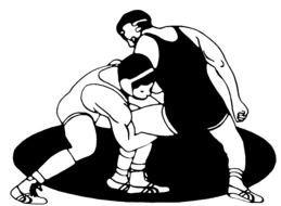Boys Wrestling Clip Art free image.