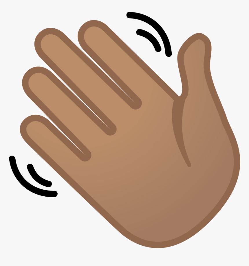 Waving Hand Medium Skin Tone Icon.