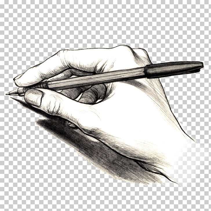 Handwriting Writer Reading, hand PNG clipart.