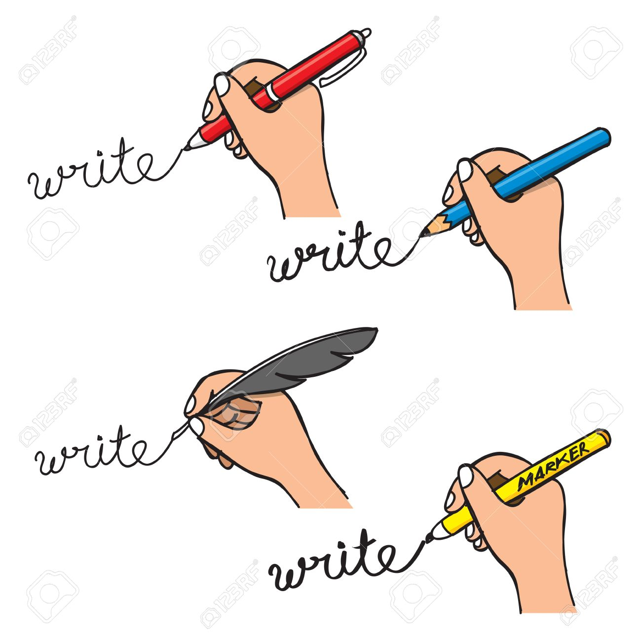 Handwriting clipart 4 » Clipart Station.