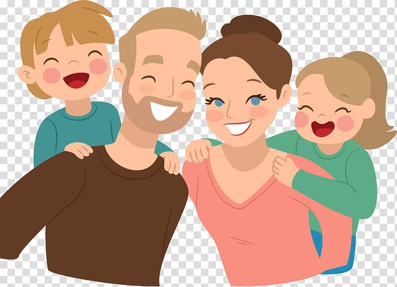 Happy family illustration, Family Child Father Parent.
