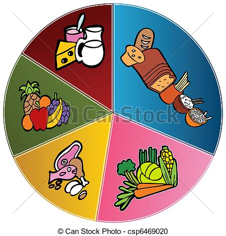 Healthy Eating and Exercising Clip Art.