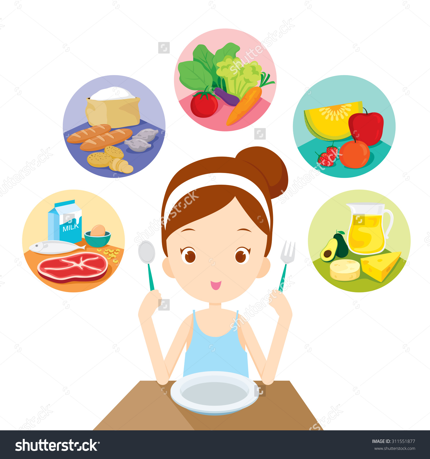 Healthy eating images clip art.