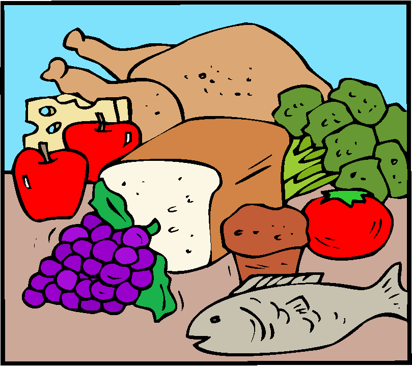 Healthy diet clip art.