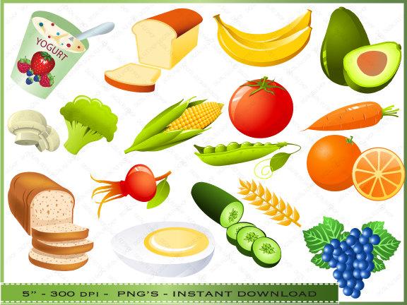 Healthy diet clip art.