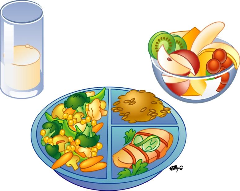 Healthy foods clip art.