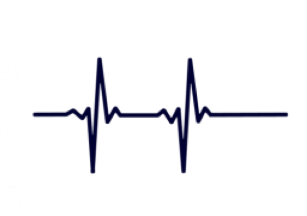 Black And White Heartbeat Monitor Clipart , Png Download.