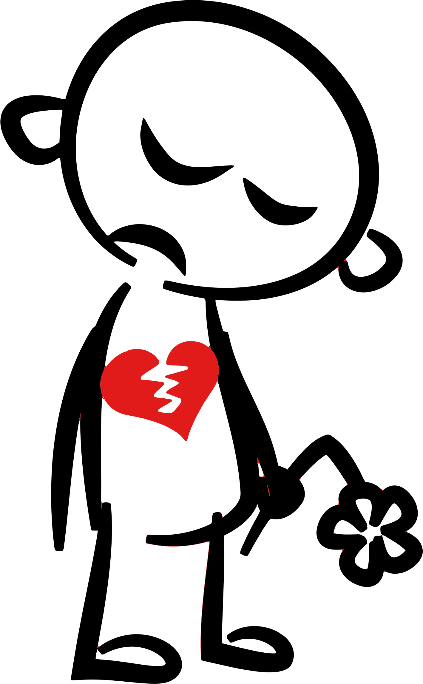 Person clipart broken hearted, Person broken hearted.