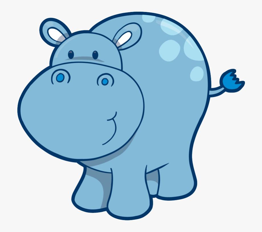 Drawing Hippopotamus Cute.