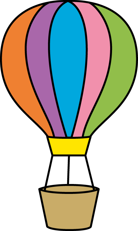 Download Free png Colorful Hot Air Balloon.