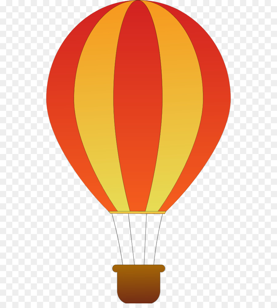 Hot Air Balloon Silhouette png download.