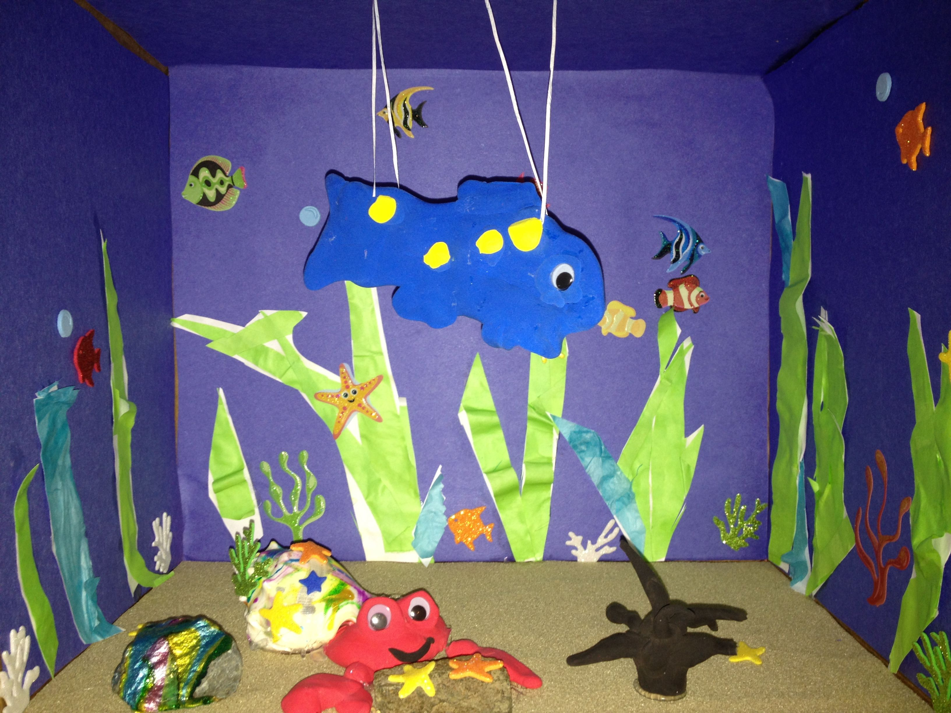 Eric Carle diorama. A House for Hermit Crab..