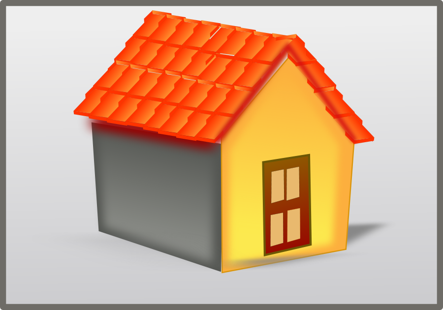 House tiled roof Clipart, vector clip art online, royalty free.