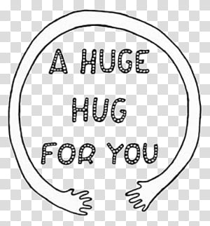 Hug You transparent background PNG cliparts free download.