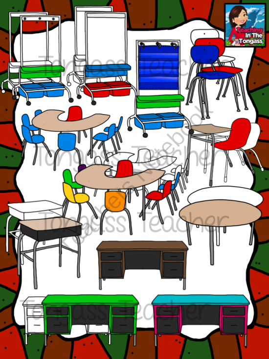 Classroom Furniture Clipart Bundle from tongassteacher on.