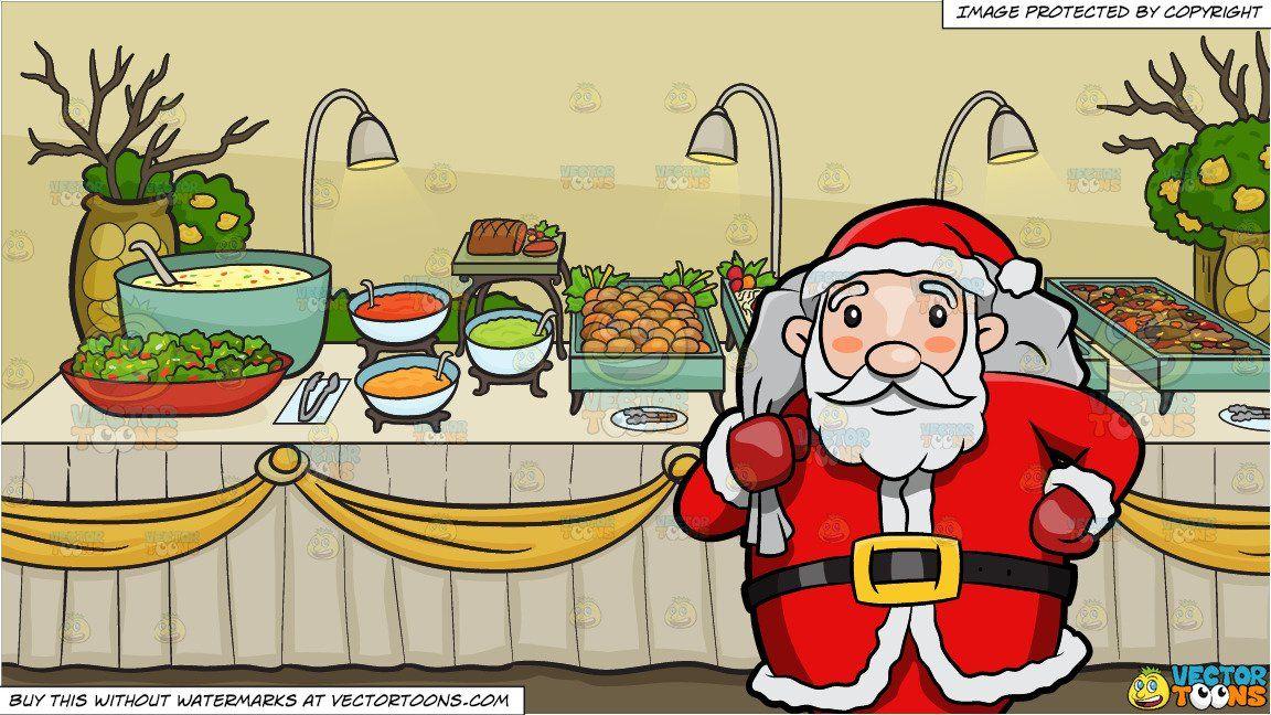 clipart #cartoon Santa Claus Carrying A Huge Sack Of.