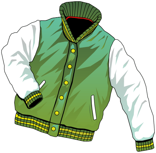 Jacket College Clipart transparent PNG.