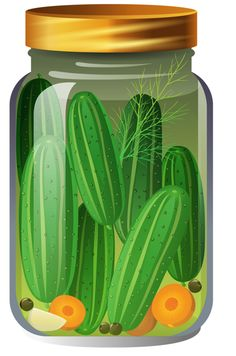 Jar of pickles clipart.