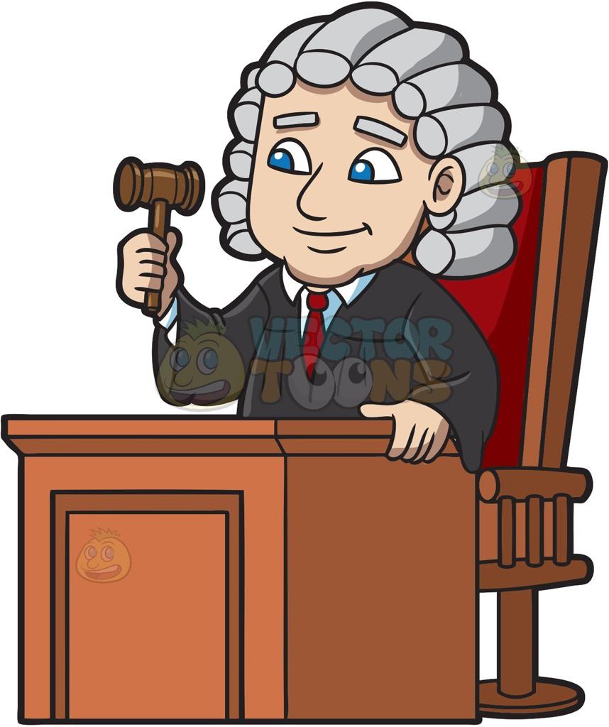1514 Judge free clipart.