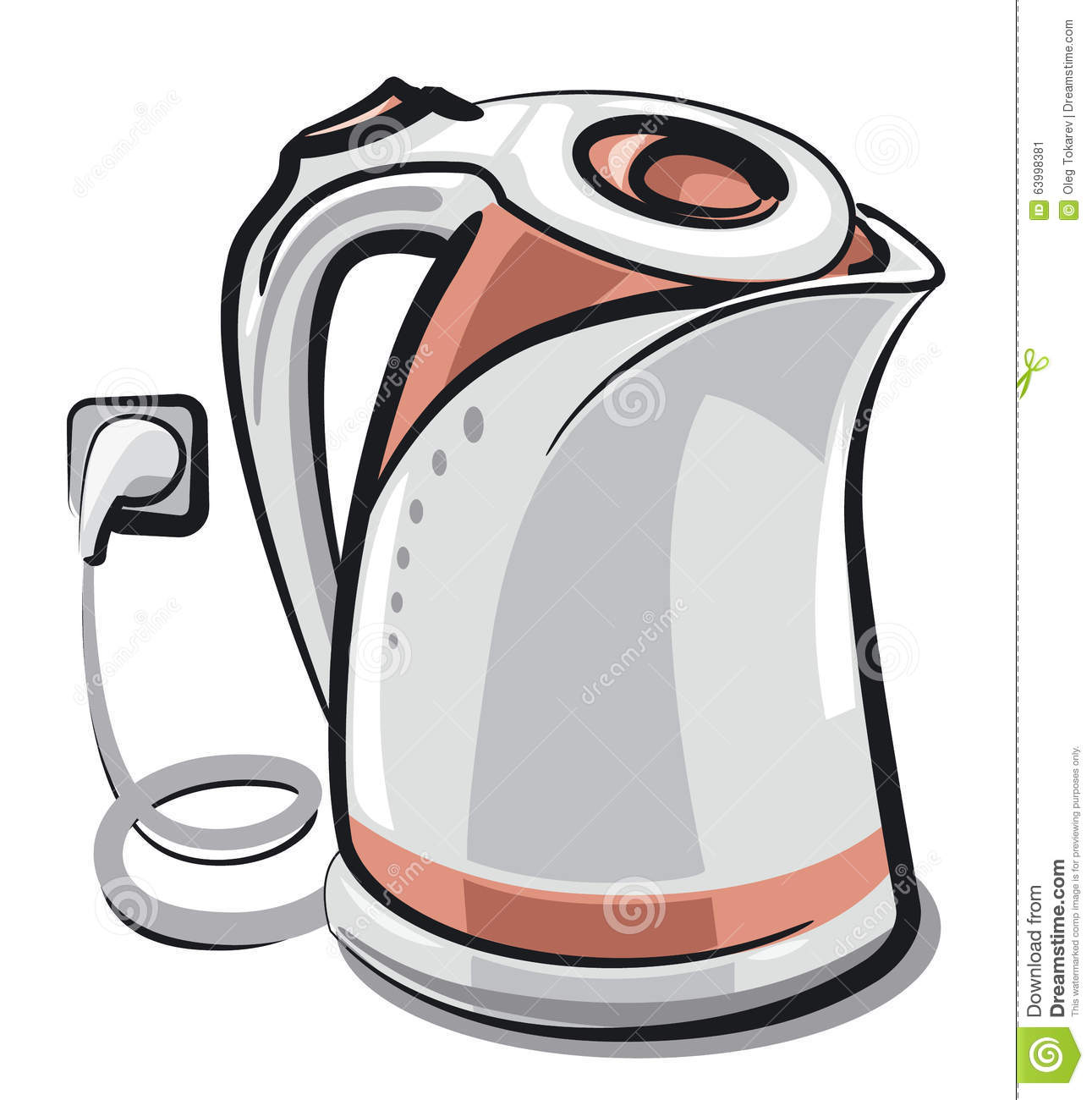 Electric kettle stock illustration. Illustration of domestic.