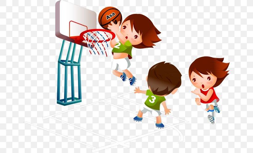 Basketball Cartoon Sport Clip Art, PNG, 670x496px.