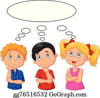 Kids Thinking Clip Art.