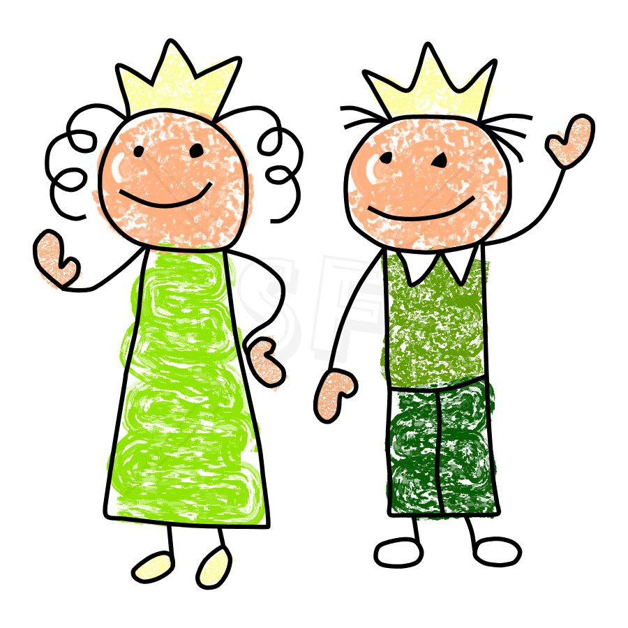King and Queen Clipart.