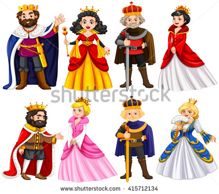 King And Queen On Throne Clipart.