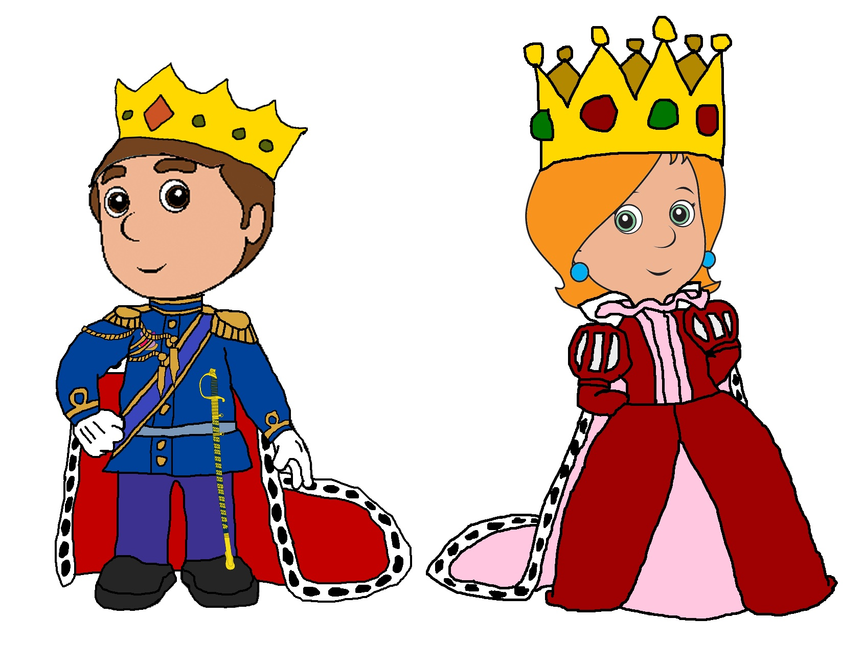 Queen And King Clipart.