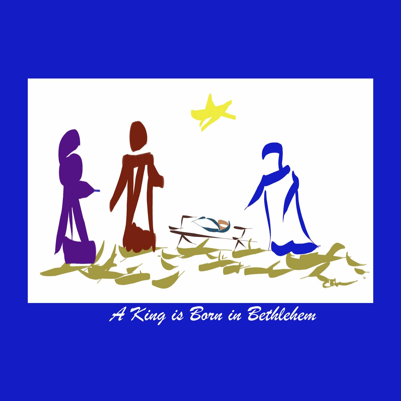 A King is Born in Bethlehem DP150903b Duvet Cover.