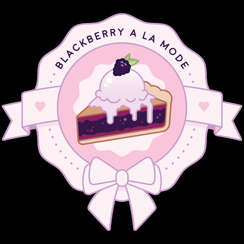 Blackberry A La Mode.