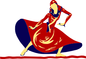 Lady Dancing In Festival Clip Art at Clker.com.