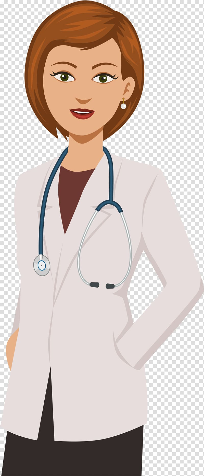Physician Cartoon Drawing Female, Doctor transparent.